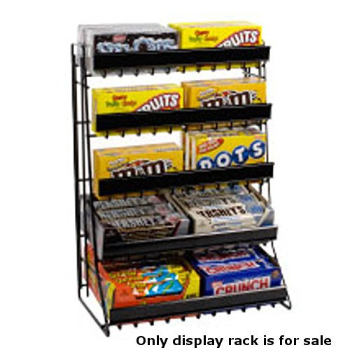 nter Top Snack 5 Tier Candy Counter Black Display Rack ()