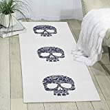 GDBADY Flower Skull Domestic Sitting Room Bedroom Domestic Carpet