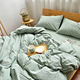 Solid color [cotton] Duvet cover Single No printing 100% cotton [double] Quilt cover European style Simple Thicken Quilt cover-A 220x240cm(87x94inch)