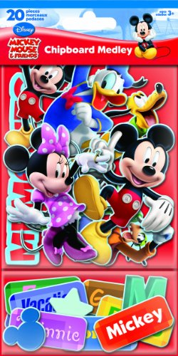 Sandylion Mickey and Friends Chipboard Medley Sticker with Glitter (Glitter Chipboard)