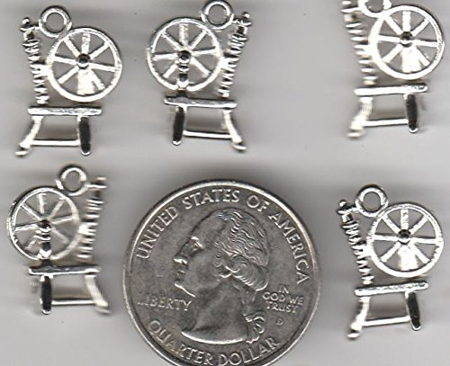 - You GET 40 Metal Spinning Wheel Charms DIY Crafting by WCS
