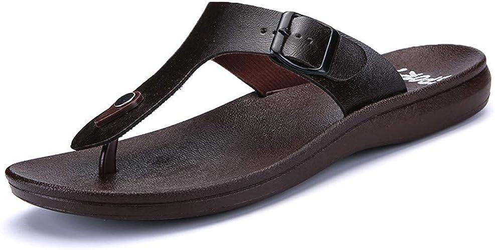 Sandale Homme Été Flat Flip Flops en Plein Air Mesh Vacances