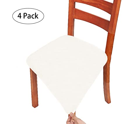 Sensational Patiomatrix 4 Pack Dining Chair Covers Spandex Stretch Chair Seat Cushion Covers Removable Washable Anti Dust Dinning Chair Protectors Slipcovers For Alphanode Cool Chair Designs And Ideas Alphanodeonline