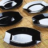 microwave plates plastic oval - Efavormart 50 Pcs - Black 7.5