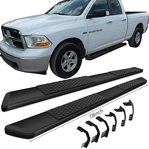 Running Boards Fits 2009 2016 Dodge Ram Quad Cab Ram Luxury Oe Style Black Stainless Steel 78inch Side Step Bars Nerf Bars By Ikon Motorsports 2010 2011 2012 2013 2014 2015