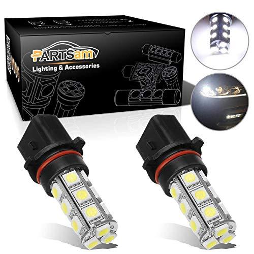 Partsam 2X P13W LED Fog Light Bulbs 12277 Daytime Running Light Driving DRL LED Lamp Xenon White 6000K Super Bright 18-5050-SMD 12V Replacement for 2011 2012 Chevrolet Camaro