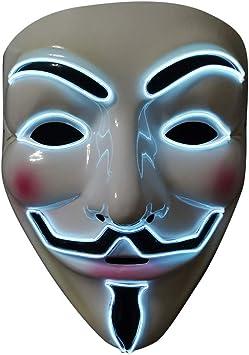 SOUTHSKY LED Mascara Disfraz de Luces Neon Led Brillante V ...