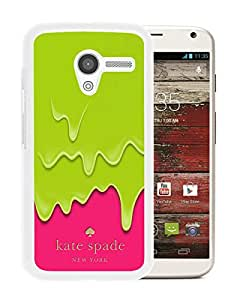 Fashionable And Unique Kate Spade Cover Case For Motorola Moto X White Phone Case 217