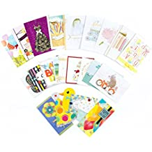 Hallmark All Occasion Handmade Boxed Assorted Greeting Cards Set (Pack of 24) - Birthday, Baby, Wedding, Sympathy, Thinking of You, Thank You, Blank Assortment