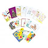 Prepare for celebrations and events throughout the year with this set of individually-wrapped greeting cards with coordinating envelopes, gold Hallmark seals, and a storage box. Every card is individually crafted with different embellishments...