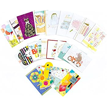 Amazon 48 pack assorted all occasion greeting cards includes hallmark all occasion handmade boxed greeting card assortment pack of 24birthday baby wedding sympathy thinking of you thank you blank m4hsunfo
