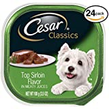 Cesar CANINE CUISINE Wet Dog Food Top Sirloin Flavor, (Pack of 24) 3.5 oz. Trays