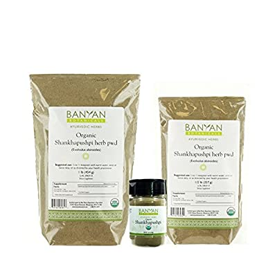 Banyan Botanicals Shankhapushpi Powder - Certified Organic, Evolvulus alsinoides - Supports a healthy nervous system and optimal brain function*