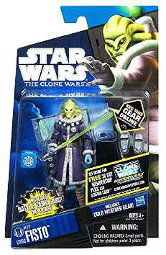 Star Wars 2011 Clone Wars Animated Action Figure CW No. 60 Kit Fisto Cold Weather Gear (Fisto Clone Wars Kit Star Wars)