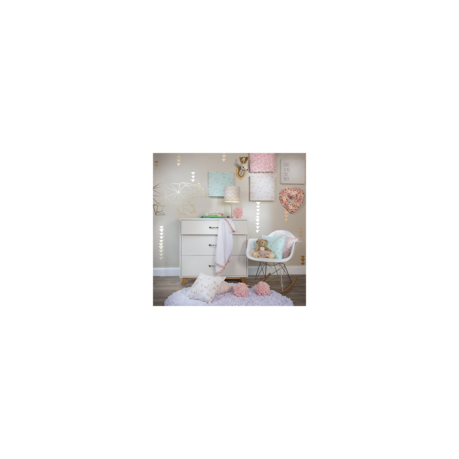 Glenna Jean Cottage Collection Audrey Pillow, Pink Floral