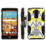 LG G Stylo LS770 H631 Phone Cover, Chevron Guitar- Blitz Hybrid Armor Phone Case for [LG G Stylo LS770 H631] with [Kickstand and Holster] by Mobiflare