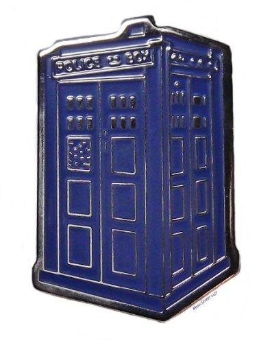 Doctor Who TV Series TARDIS POLICE BOX Metal/Enamel PIN (Enamel Pin Logo)