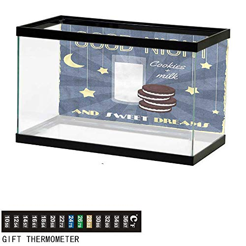 Suchashome Fish Tank Backdrop Sweet Dreams,Biscuits and Milk,Aquarium Background,30