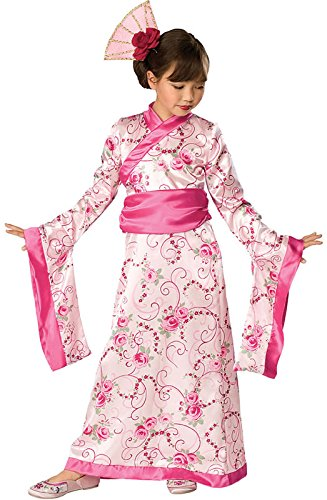 Geisha Girl Pink Costumes (Japanese Princess Child Costume - Medium)