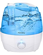 Homasy OceanMist Humidifiers, 2.2L BPA-Free Cool Mist Humidifier, 28dB Humidifiers for Bedroom, 30H Air Humidifier, Easy to Clean, Auto shut off, Blue