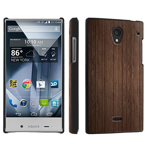 Sharp Aquos Crystal (Virgin Mobile, Boost Mobile, Sprint) (Brown Wood) Sleek Clip Cover Case by [SkinGuardz]