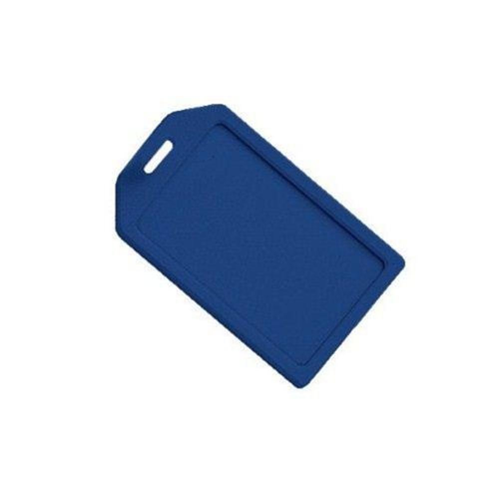 Blue Rigid Plastic Heavy Duty Luggage Tag Holders - 100pk