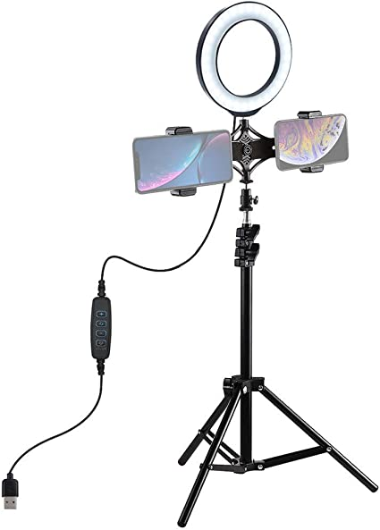 Ring Light 4.7 Inch with Tripod Stand USB 3 Modes LED Ring Video Photography