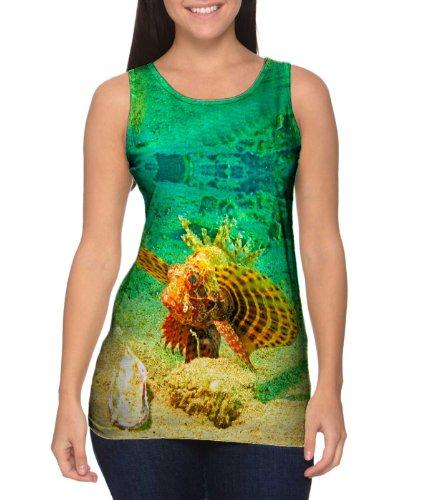 Dwarf Zebra (Yizzam- Zebra Dwarf Lionfish Underwater -TShirt- Womens Tank Top-Large)