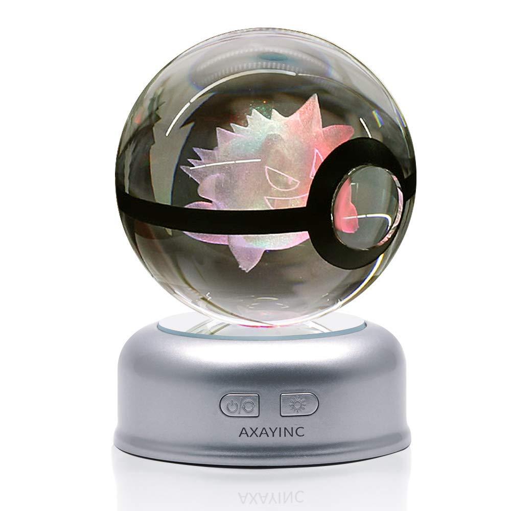 AXAYINC 3D クリスタルボール 70mm LED ナイトライト 色が変わる クリスマス 誕生日 子供 ギフト AXAYINC B07GGF6S3G 7 Geng Gui