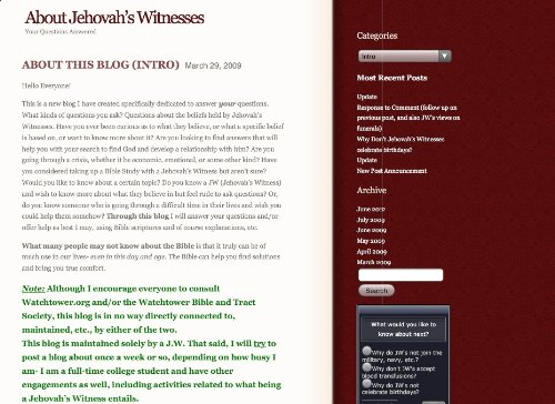 About Jehovah's Witnesses