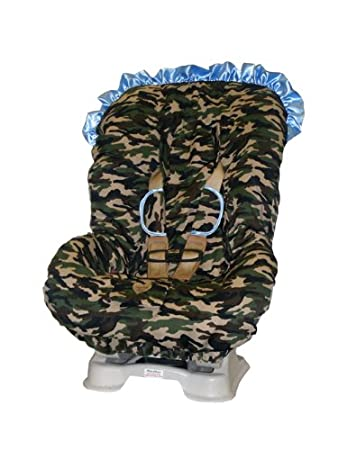 Daddy Camo With Blue Trim TODDLER CAR SEAT COVER