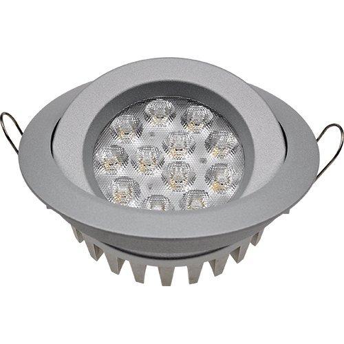 Guli TD36 Cibeles LED con Driver Incluido 6000K, 15 W, Plata, Ø129 x 34 mm: Amazon.es: Iluminación