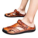Leather Sandals for Men 2019 New Casual Lightweight Hiking Beach Water Shoes