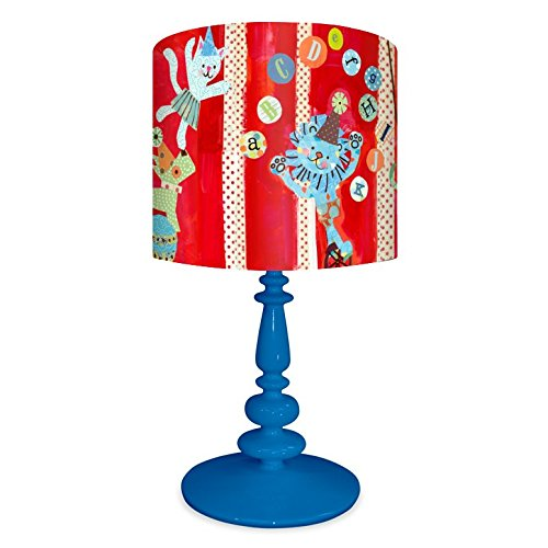 Oopsy Daisy NB14924 Big Top Alphabet on Resin Blue Base Table Lamp