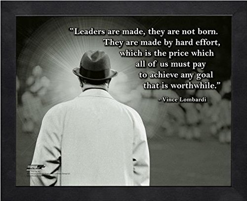 Vince Lombardi Green Bay Packers ProQuotes Photo (Size: 12'' x 15'') Framed by Photo File