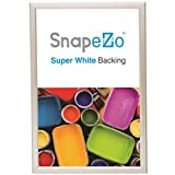 """Cream Poster Frame 18x24 Inches, 1.25"""" SnapeZo Profile, Front Loading Quick Poster Change, Wall Mounted, Professional Series"""