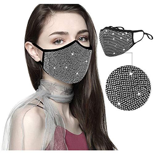 Clacce Couverture de Cristaux de Strass de Mascarade d'halloween pour Les Femmes et Fille Tissu Lavable