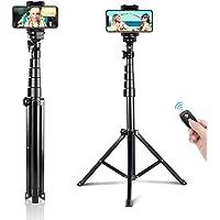 UBeesize 51インチ(130センチ)自撮り三脚 三脚スタンド&Bluetoothリモコン付き伸縮な自撮り棒 iPhone&Androidに適用