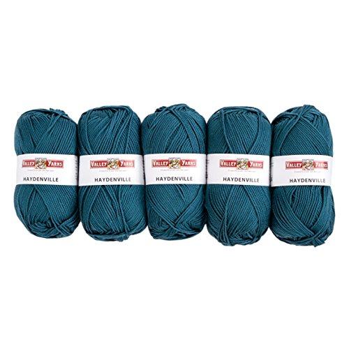 Valley Yarns Haydenville 5-Pack (Washable Worsted weight yarn, 60% Superwash Merino Wool/40% Acrylic Microfiber) - #11 - Yarn Wool Teal