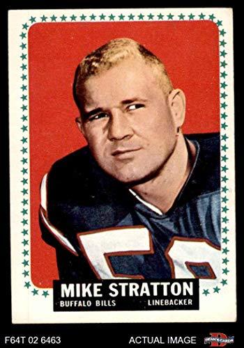23b44b1ceaa Amazon.com: 1964 Topps # 39 Mike Stratton Buffalo Bills (Football Card)  Dean's Cards 4 - VG/EX Bills: Collectibles & Fine Art