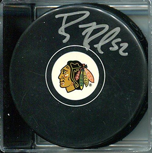 BRANDON BOLLIG signed *CHICAGO BLACKHAWKS* Souvenir Puck W/COA #1