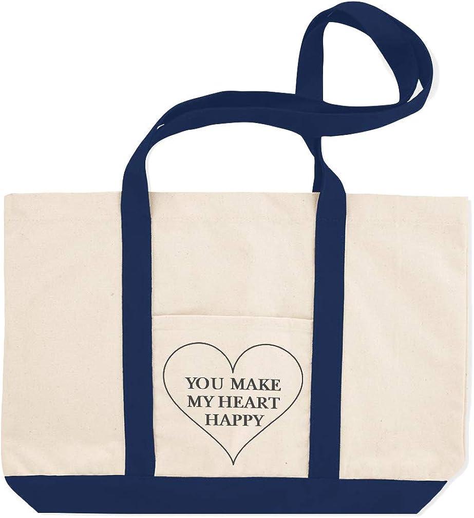 Canvas Shopping Tote Bag You Make My Heart Happy A Alphabet /& Monograms Love Love Beach for Women