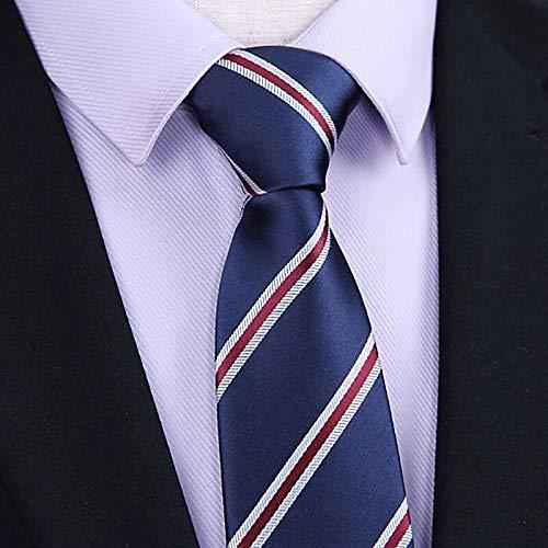 XIAMAZ Moda Clásico Simple Corbata Hombres De Negocios A Rayas ...