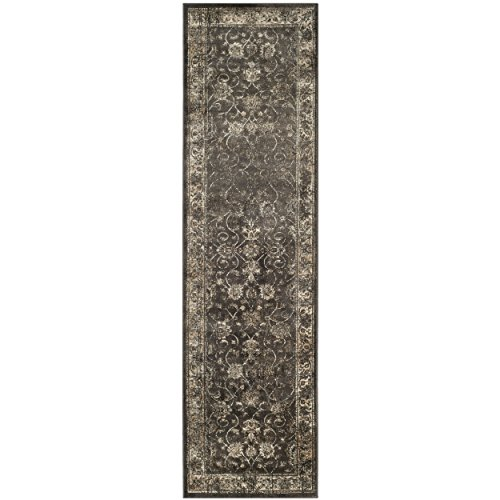Safavieh Tabriz Floral Collection TF31 Hand-Knotted Multicolored Silk & Wool Area Rug, 9 fee ...