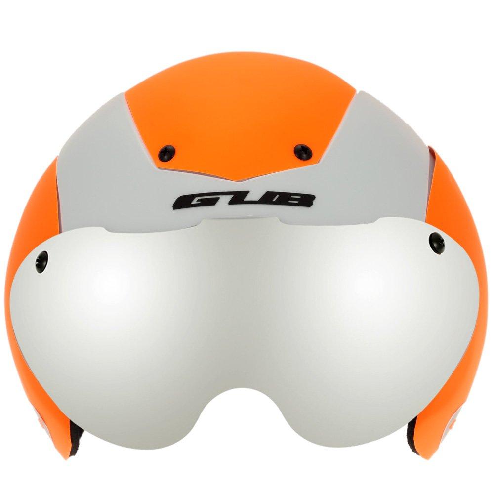 Unisex Cycling Helmet Ultralight Integrally-molded 13 Vents Bicycle Helmet Bike Skating 2 in 1 Helmet with Goggles - Orange