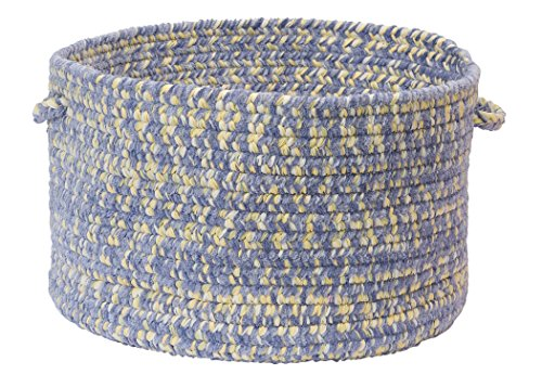 Colonial Mills West Bay Utility Basket, 18 by 12-Inch, Amethyst Tweed