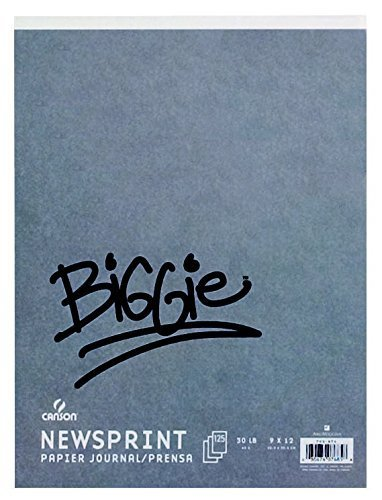 Canson Biggie 24 x 36 Inches Newsprint Sheet Pad (ANC702-276) by Canson