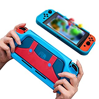 Nintendo Switch Game Protective case - Protective Cover Case Compatible with Switch Console and Joy-Con Controller Blue