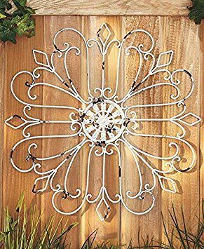 - Iron Wall Medallion (Antique White)