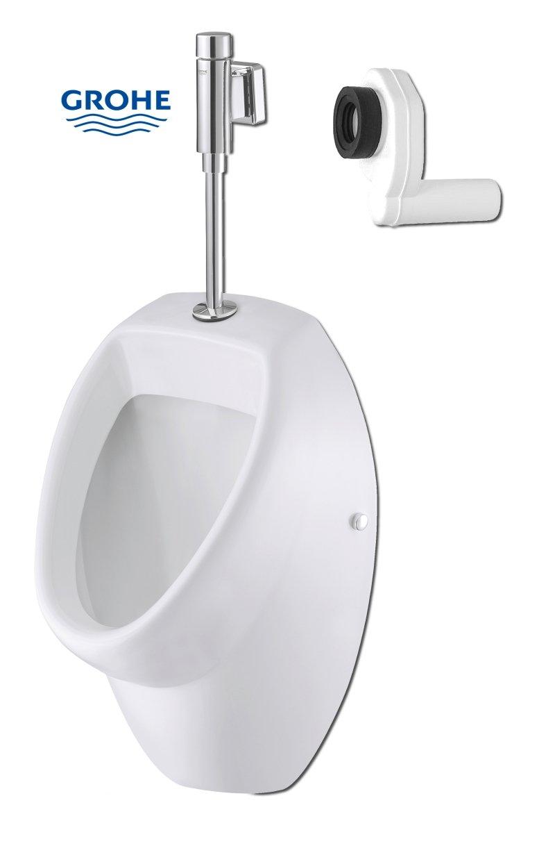Drucksp/üler im Set Ceravid MrClever Urinal Zulauf von oben Ablauf nach hinten inkl Ceravid C073660